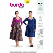 6390 Burda Pattern: Misses' Plus Size Dress